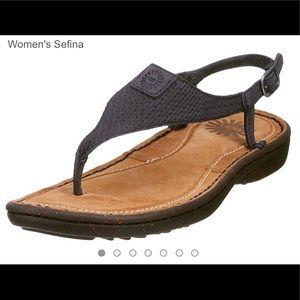 UGG Sefina Sandals in Black
